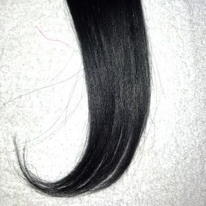 Black Bang Clip in Hair Extension